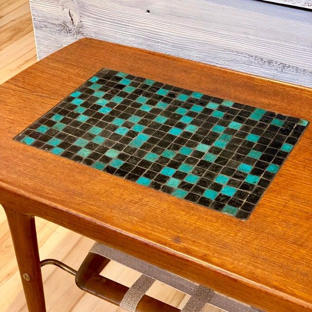 1960s Danish Modern Arne Hovmand-Olsen Teak Coffee Table With Tile Inlay For Sale In Sacramento - Image 6 of 13
