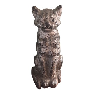 Early 20th Century Antique National Foundry Cast Iron Cat Doorstop For Sale