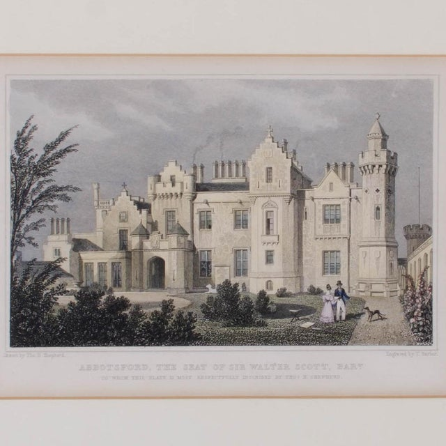 1830 Engraving Abbotsford, The Seat of Walter Scott, Scotland For Sale - Image 4 of 4