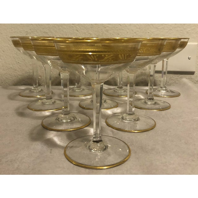 Mid 20th Century Baccarat French Gilt Crystal Directoire Style Glassware - Set of 40 For Sale In Los Angeles - Image 6 of 13