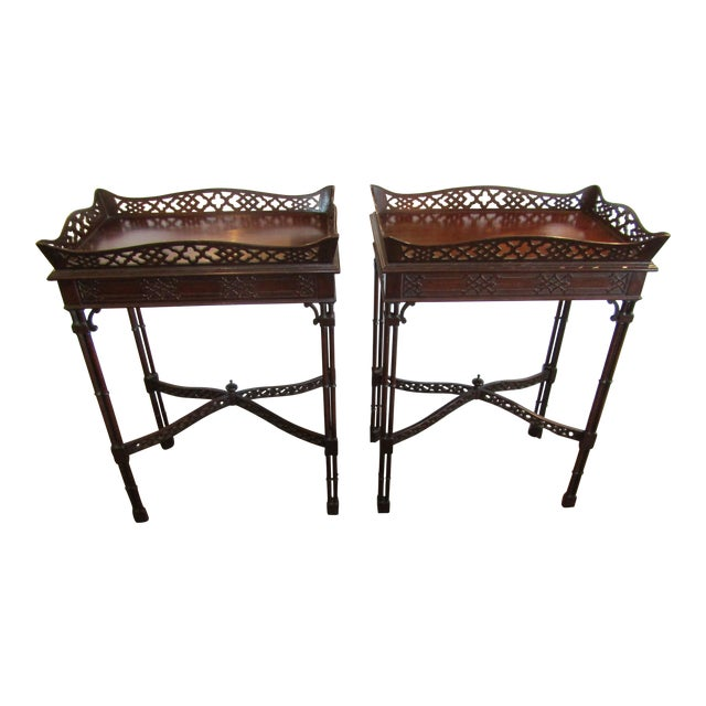 Master Craftsman Chippendale End Tables - A Pair - Image 1 of 4