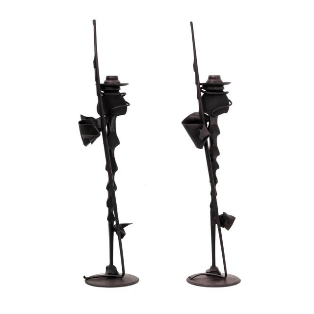 Pair of Albert Paley Condle Holders For Sale In New York - Image 6 of 6