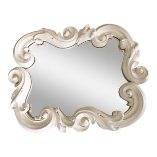 Vintage Dorothy Draper Style Plaster Mirror For Sale