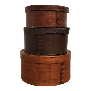 Early 20th Century American Pine & Maple Pantry Boxes - Set of 3 For Sale