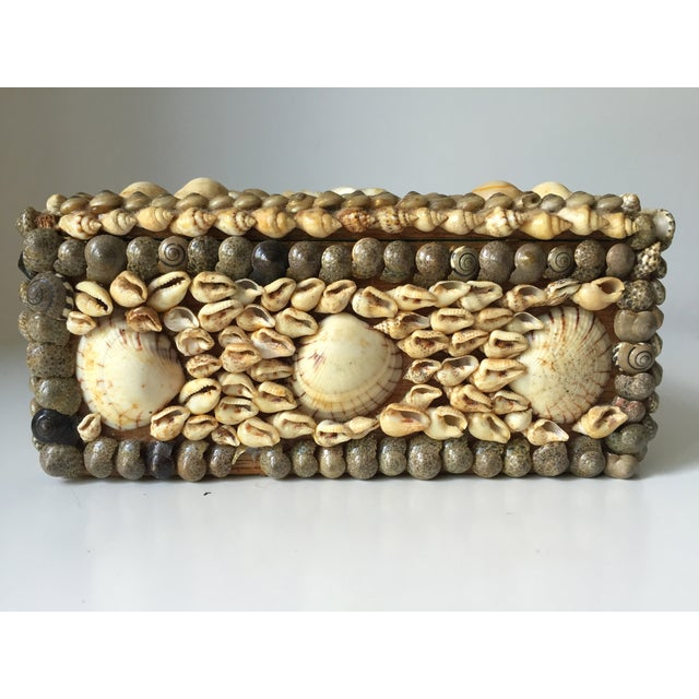 Vintage Shell-Encrusted Decorated Box - Image 4 of 7
