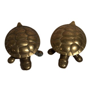 Brass Turtle Boxes - A Pair