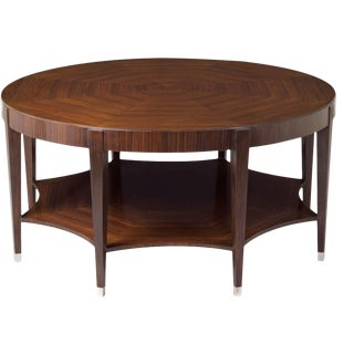 Scarborough House Rosewood Round Cocktail Table For Sale