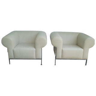 Jack Cartwright Club Chairs - A Pair For Sale