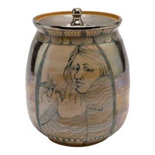 Mary Lou Higgins (1926-2012) and Edward Higgins Pottery Covered Jar