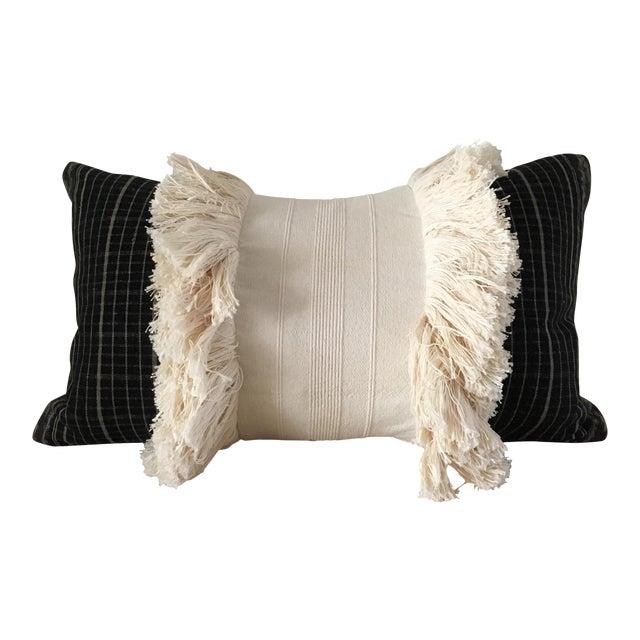 Vintage Sumba Ikat Fringe Pillow - Image 1 of 9