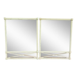 "Vintage ""X"" Motif Mirrors - a Pair For Sale"