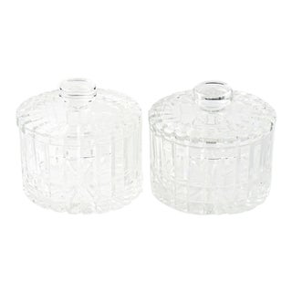 Cut-Crystal Candy Jars - a Pair For Sale