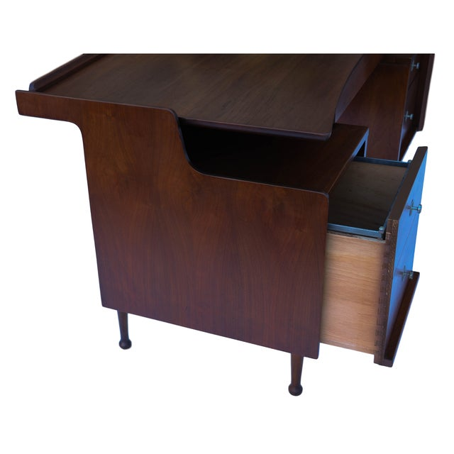 Brown Mainline Hooker Mid Century Floating Desk For Sale - Image 8 of 10
