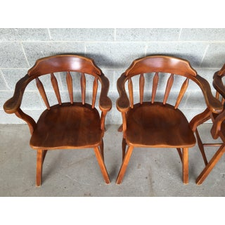 Vintage Cushman Nantucket Round Arm Chairs - Set of 4 Preview