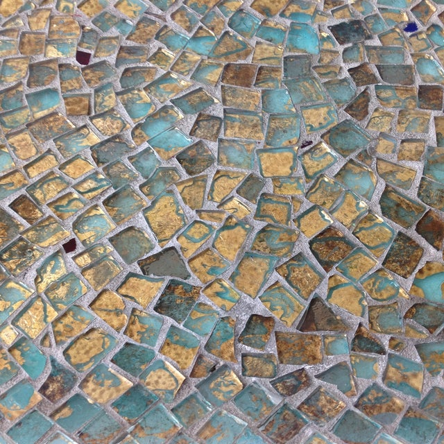 Gold Foil Glass Mosaic Tray - Image 4 of 11