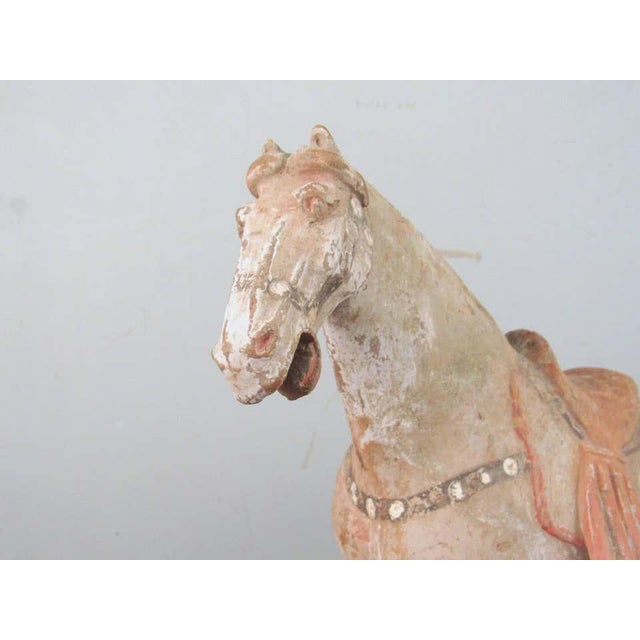 Antique Tang Pottery Horses - a Pair For Sale - Image 4 of 13