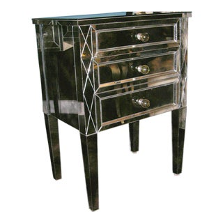 Single Smoked Mirrored Commode For Sale