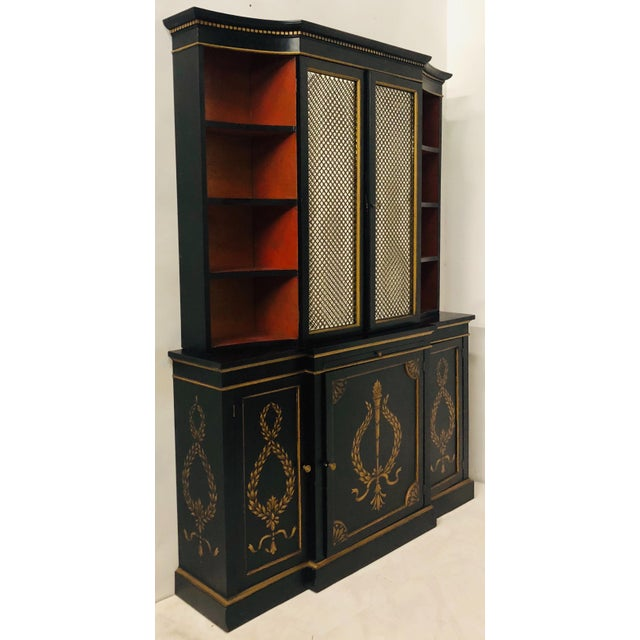 1960s Hollywood Regency Italian China or Library Cabinet For Sale - Image 5 of 9