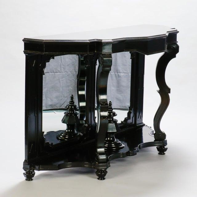 Italian Ebonised Mahogany Console For Sale - Image 4 of 10