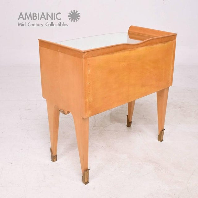 1940s Mid-Century Modern Italian Nightstand For Sale - Image 5 of 10