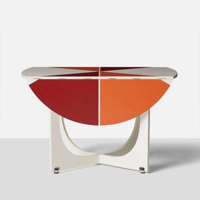 1970s Gio Ponti Drop Leaf Apta Table For Sale - Image 5 of 9