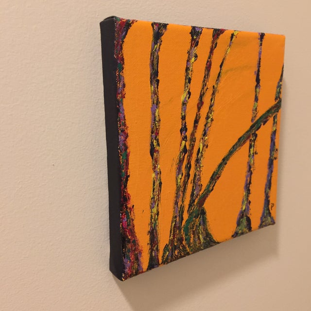 "Modern ""Conversations"" Acrylic Painting For Sale - Image 4 of 6"