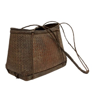 Rattan Carrying Shoulder Basket