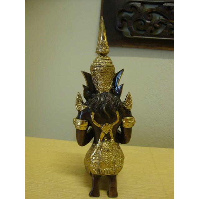 Gilt Bronze Kneeling Thai Princess Figurine - Image 4 of 7
