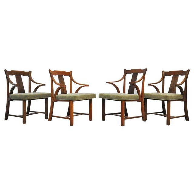 "Dunbar Set of Four ""Greene & Greene"" Chairs by Edward Wormley - Image 8 of 8"