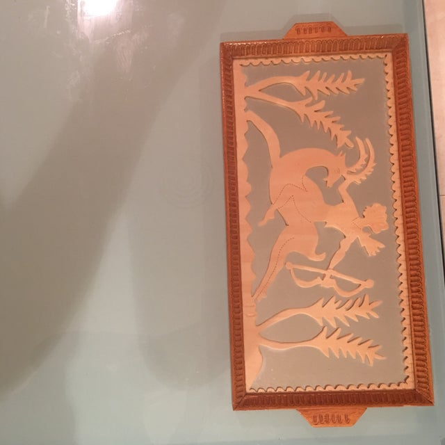 Vintage Art Deco Hand Carved Tray - Image 2 of 7