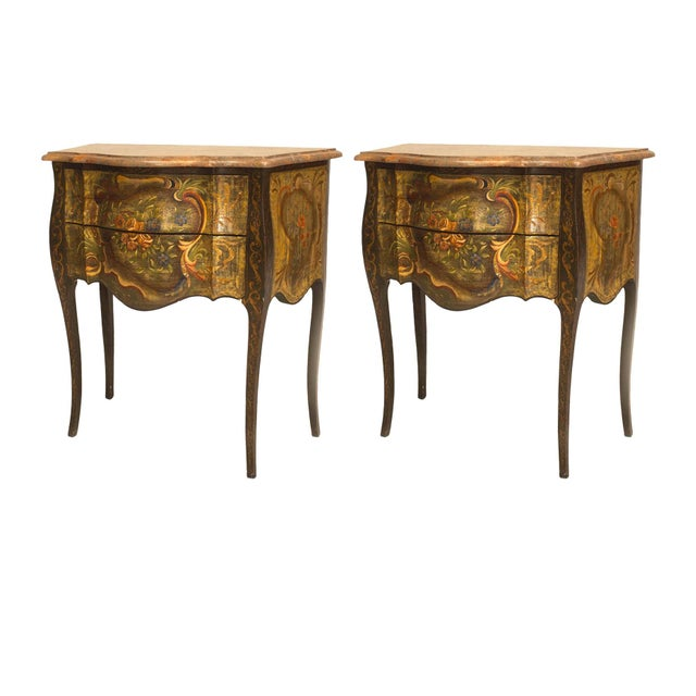 Italian Venetian '19th-20th Century' Commodes - a Pair For Sale In New York - Image 6 of 6