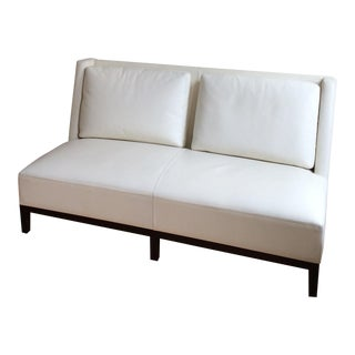 Christian Liaigre for Holly Hunt White Leather Sofa