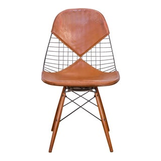 Original Eames PKW-2 Wire Chair on Dowel Swivel Base For Sale