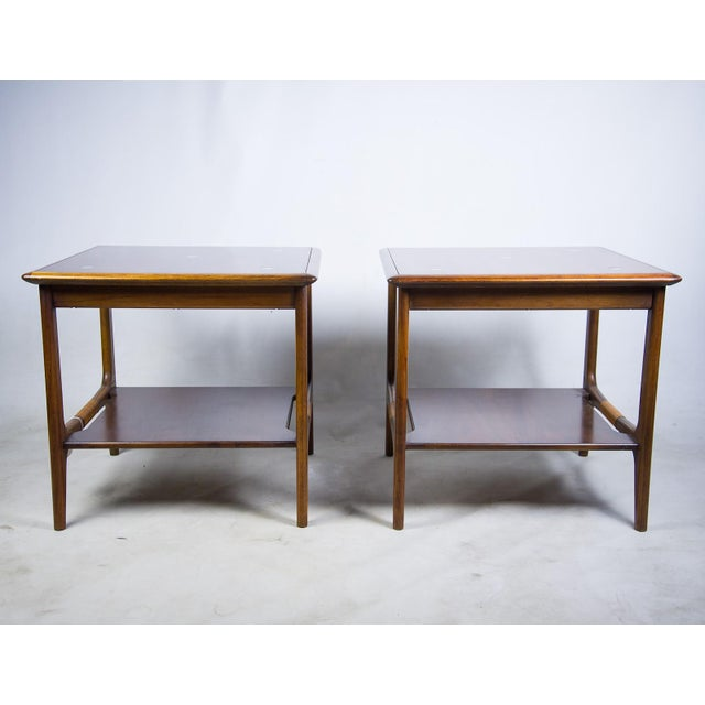Constellation Walnut & Metal Tables - A Pair - Image 3 of 11