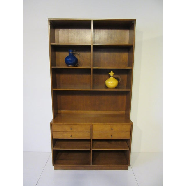 Gold Paul McCobb Planner Group Maple 2 Pc. Bookcase For Sale - Image 8 of 9