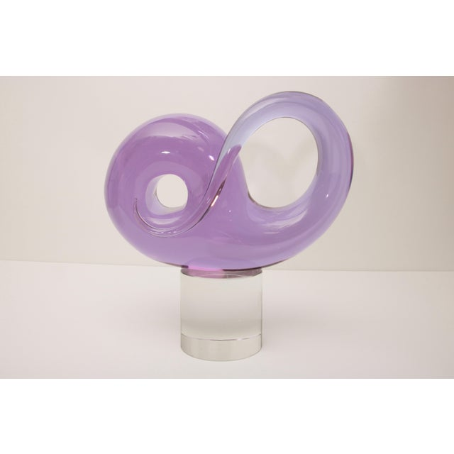 Mid-Century Modern Mid-Century Seguso Murano Glass Sculpture For Sale - Image 3 of 10