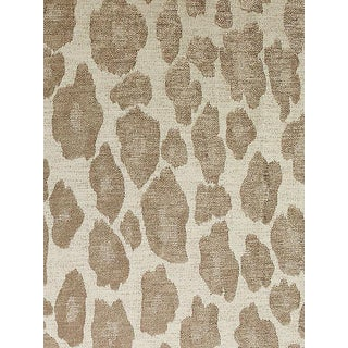 Sample, Scalamandre Chita, Taupe Fabric For Sale