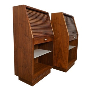 Mid Century Modern Kipp Stewart for Drexel Declaration Nightstands - a Pair For Sale