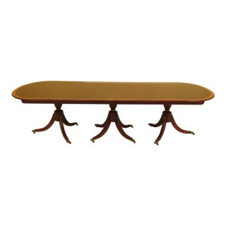 Kindel 3-Part Banded Mahogany Dining Room Banquet Table