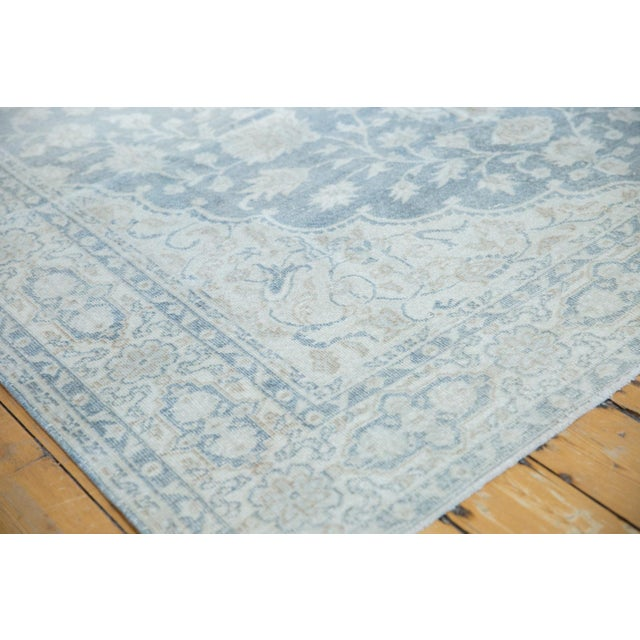 "Cotton Vintage Distressed Oushak Carpet - 6'6"" X 9'7"" For Sale - Image 7 of 13"