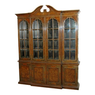 Drexel Heritage Beveled Glass China Cabinet For Sale