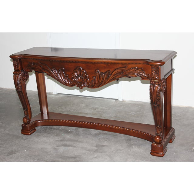 Carved Wood Coffee Table - Image 2 of 6