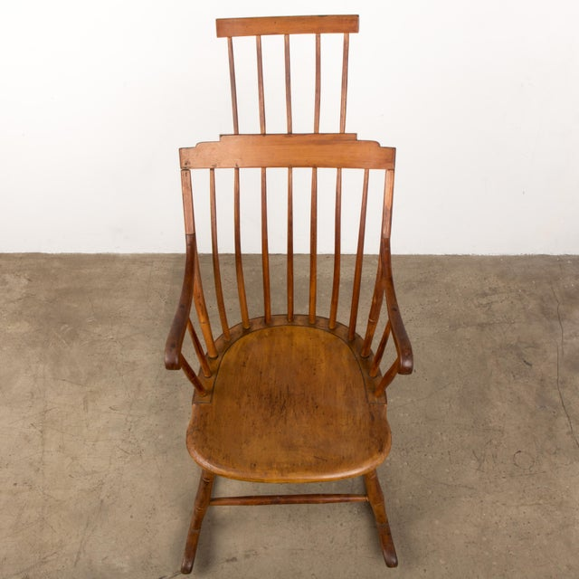 Mid 19th Century Antique American Comb-Back Windsor Rocker For Sale - Image 11 of 12