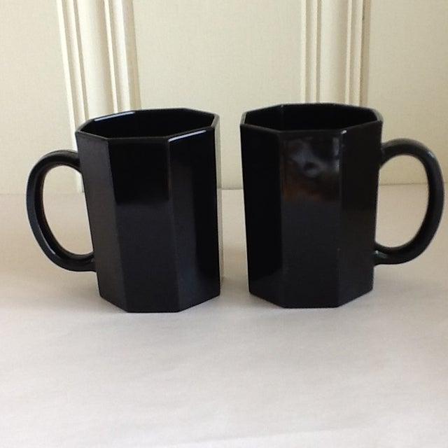 French Ebony Ceramic French Mugs - Set of 6 For Sale - Image 3 of 11