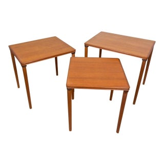 Danish Modern Teak Nesting Tables - Set of 3 For Sale