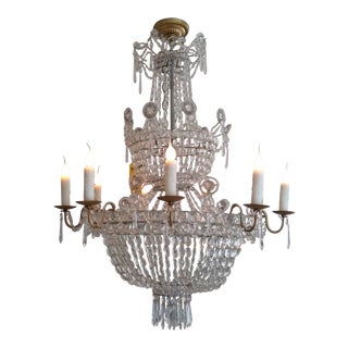 19th C 12 Lite Scandinavian Empire Chandelier For Sale