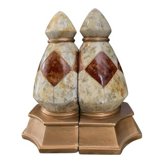 Vintage Marble Bookends - a Pair For Sale