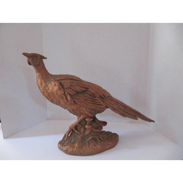 Americana Large Vintage Pheasant Figurine For Sale - Image 3 of 6