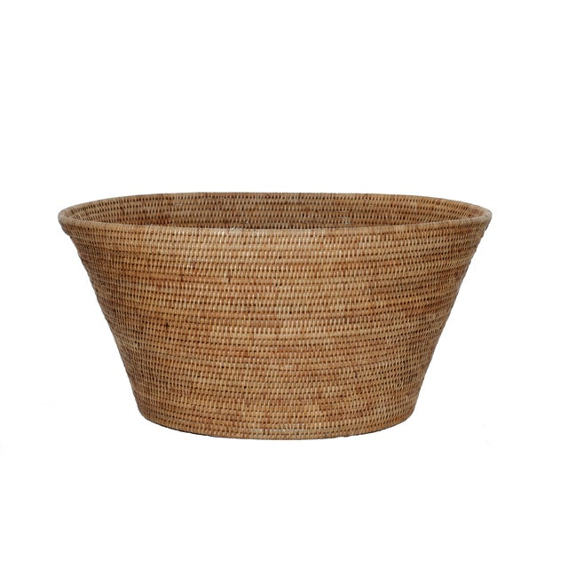 Boho Chic Artifacts Rattan Laundry Basket For Sale - Image 3 of 3