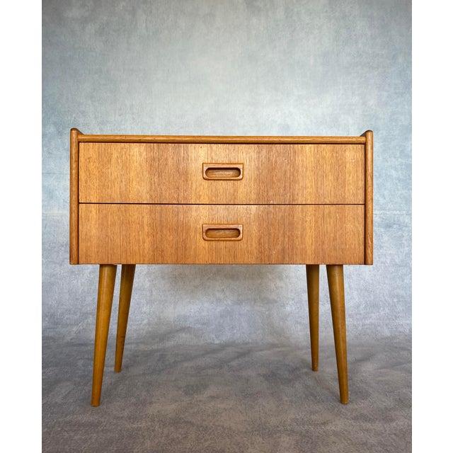 1960s Vintage Scandinavian Mid Century Teak Lowboy For Sale - Image 9 of 9